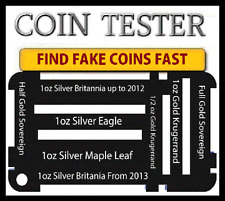 1oz Silver Eagle Maple Leaf Gold half Soveren Silver Britannia Coin Testing  kit