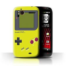 STUFF4 Case/Cover for HTC Sensation XE/Video Gamer/Gameboy/Yellow