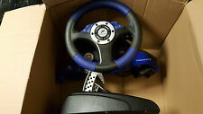 PS2 * FANATEC RACING WHEEL SPEEDSTER 3 WITH PEDALS * PLAYSTATION 2