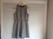 ZARA NAVY & WHITE PATTERNED DRESS***SIZE M***