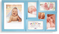 Blue Baby Multi Aperture Photo Picture Frame - Holds  6 Photos Baby Boy Frame