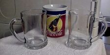 LARGE COCA-COLA MUG WITH PAIR OF CLEAR GLASS MUGS FROM INDONESIA