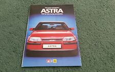 September 1984 Vauxhall ASTRA Mark 2 inc GTE A5 UK LAUNCH MAILER BROCHURE V6007
