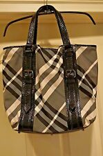 MINT BURBERRY BEAT CHECK - BLACK/WHITE/GRAY LOWRY TOTE - AWESOME!!!!
