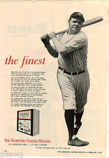 1957 ADVERT Babe Ruth Bambino Sporting Goods Directory Advertisement Yankee NY