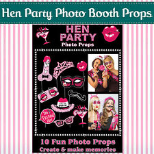 HEN PARTY SELFIE PHOTO BOOTH PROPS - Novelty Game Accessories Girls Night Out