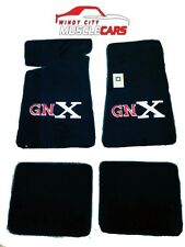 1987 Buick Regal GNX Carpeted Floor Mats 4 Piece Set Embroided With GNX Logo
