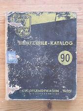 ERSATZTEILE-KATALOG 90 DKW Geländewagen Vierradantrieb gl LKW 0,25t April 1957