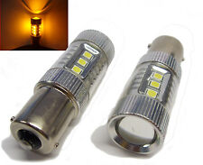 Pair 581 80W Cree 12V/24V High Power LED Bulbs Amber Yellow Orange Indicator