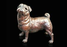 Pug Dog Foundry Cast Solid Bronze Richard Cooper Sculpture by Grant Palmer (846)