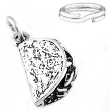 "STERLING SILVER ""3D TACO"" CHARM WITH SPLIT RING"