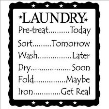LAUNDRY SCHEDULE Wall Lettering Words Quotes Decal Sticker Vinyl Saying