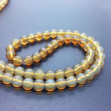New 4mm 100Pcs Transparent Glass Round Pearl Loose Beads Jewelry Making #4m01
