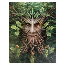 THE GREEN MAN 'OAK KING' ANNE STOKES WALL CANVAS GREENMAN PAGAN WICCAN PRINT
