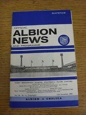 12/11/1966 West Bromwich Albion v Chelsea (débil veces). este artículo ha sido Insp