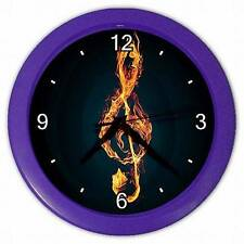NEW MUSIC TREBLE CLEFF HANGING WALL CLOCK BEDROOM LOUNGE HOME DECOR OFFICE