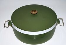 Vintage Kitchen Insulated Serving Dish Olympian Therm-O-Ware Avocado Green MCM