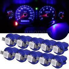 10x T5 B8.4D 5050 1SMD Car LED Dashboard Dash Gauge Instrument Light Bulbs Blue