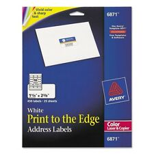 Avery Print-to-the-Edge Address Labels for Color Laser Printers & Copiers - 6871