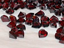 8pc little Blood Red crystal SWAROVSKI Hearts unfoiled no hole 6mm Halloween *~