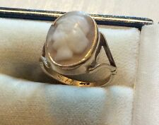 Lovely Ladies Early Vintage Stamped 9ct Gold Cameo Ring Nice 9ct Cameo