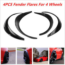Universal Car Fender Flares 4 Piece Flexible Yet Durable Polyurethane Black Kits