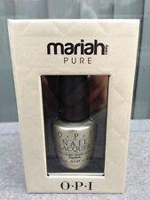 LIMITED ED OPI - MARIAH CAREY Holiday 2013 PURE 18k White Gold & Silver Topcoat