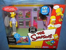 Simpsons WOS KRUSTY BURGER w/PIMPLY FACE TEEN Interactive Enviroment Talking MIB
