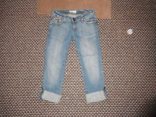 """Display Collection Cropped Turn Ups Jeans W30"""" Faded Medium Blue Ladies Jeans"""