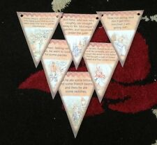 Baby Shower Peter Rabbit Bunting/banner decoration