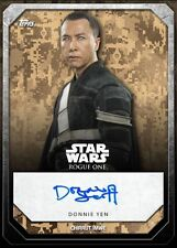 Rogue One Signature Donnie Yen Chirrut Imwe Topps Star Wars Card Trader