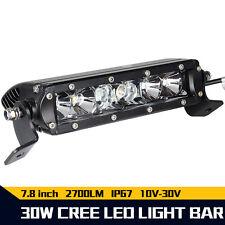 "Slim 7.5""Inch 30W LED Driving Work Light Bar Spot Combo Beam Offroad SUV 7Inch"