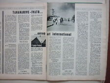 1960'S ARTICLE DE PRESSE AEROPORT MADAGASCAR TANANARIVE IVATO ASECNA 2 PAGES