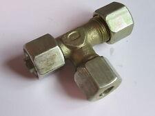10mm X M18 X 1.5 Ajustable Stud Giratorio barril Tee hidráulica de compresión #1A193
