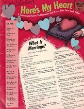 Here's My Heart A Sentimental Salute to Couples Who Love Each Other 1958 Essays