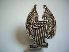 Classic Winged One Harley Davidson Motorcycle Pin Factory Badge HD Dealership