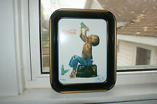 coca cola tray reproduction black americana little boy summer fun 1996
