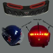 Wireless Motorcycle Helmet Stop Brake Light 8 LED W/Turn Signal For Harley Honda