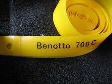 """2 Banda rim """"Benotto"""" giallo 700 C 17mm 28 Pollici per Bici da corsa Nuovo"""
