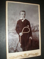 old cabinet photograph boy whip by A & G Taylor at Bradford c1890s