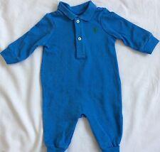 New Baby Boys Ralph Lauren Long Sleeves Body Suit/Romper 9M