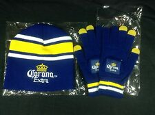 Corona Extra Beer Winter Beanie Hat And Gloves New !!