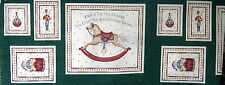 Wallhanging Fabric Panel Christmas Rocking Horse ornament toys baby mini quilt