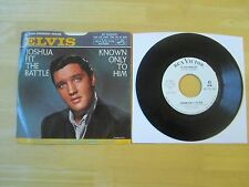 Elvis 45rpm record & Sleeve, Joshua Fit The Battle/Known Only To Him, PROMO,RCA