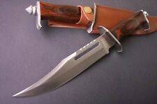 "12.5"" SHARP Rambo III 58HRC 4mm Hunting rescue Jungle Survival Bowie Knife FK28"