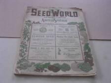 Seed World Magazine Chicago Illinois January 5 1923
