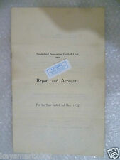 SUNDERLAND Football Club Ltd Annual Accounts & Directors Reports Y/E 1952 3 May