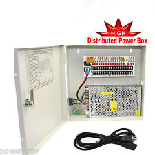 New PTC 9 Port 12V 10 Amp DC Distributed Power Box for Home Security Cameras A9
