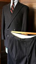 Ralph Lauren 41L 2pc gray DOUBLE-BREASTED PINSTRIPE CLASSIC HOLLYWOOD 30's-40's