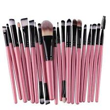 20pcs Makeup Brush Set tool Foundation Powder Toiletry Kit Wool Cosmetic Brushes